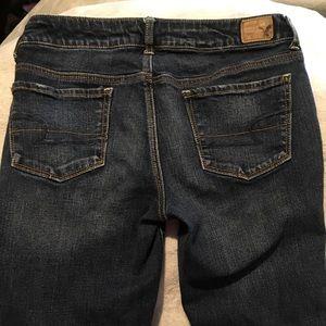 American Eagle Skinny Dark Wash Jeans Size 8